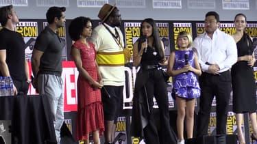 Le casting des Eternels au comic con de San Diego, le 20 juillet 2019.