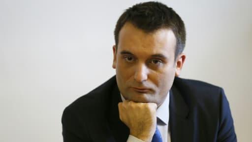 Le numéro deux du Front National, Florian Philippot, le 19 février 2016 à Taverny