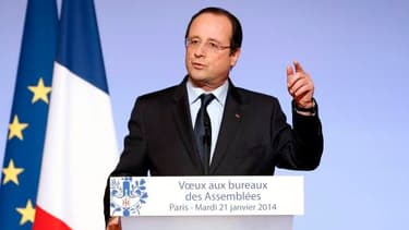 François Hollande, lors de ses voeux aux acteurs de l'économie et de l'emploi, le 21 janvier.