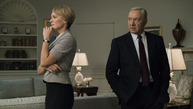 """Kevin Spacey et Robin Wright dans """"House of Cards""""."""