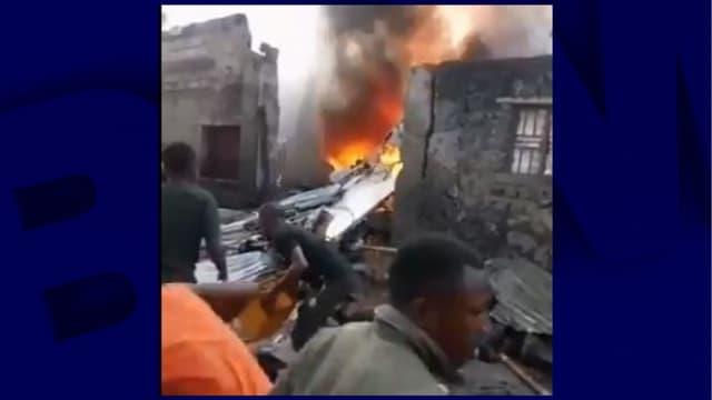 L'avion qui s'est écrasé