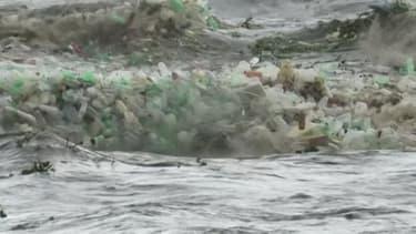 Des tonnes de plastiques rejetés sur cette plage d'Afrique du Sud