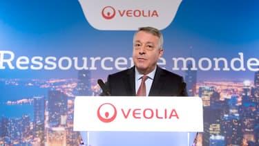 Antoine Frérot, PDG de Veolia, salue les bons résultats du groupe.
