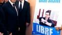 Nicolas Sarkozy devant la mairie de Nice. Le chef de l'Etat espère que la libération du soldat franco-israélien Gilad Shalit, dans le cadre d'un échange avec des prisonniers palestiniens, contribuera à relancer le processus de paix israélo-palestinien, au