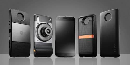 Le Moto Z est un smartphone haut de gamme qui grâce à des accessoires se transforme en appareils photo, en vidéo-projecteur, en console de jeux ou en système audio.