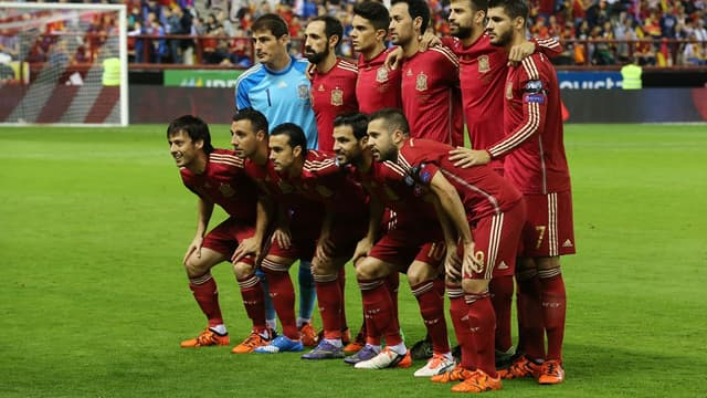 L'équipe d'Espagne, double tenante du titre à l'Euro
