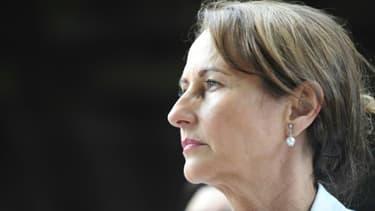 La ministre de l'Ecologie et du Développement durable Ségolène Royal, lors d'une visite à Saxon-Sion dans le nord-est de la France, le 26 juin 2015