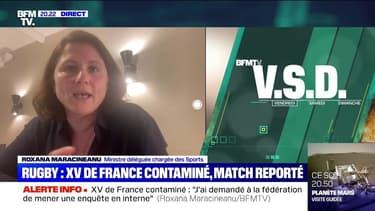 """XV de France : """"Nous pouvons retirer les autorisations de s'entraîner"""" tance Maracineanu"""