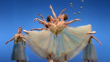 Répétition de Casse-Noisette par la Compagnie nationale de danse espagnole au Théâtre de la Maestranza à Séville le 8 janvier 2020