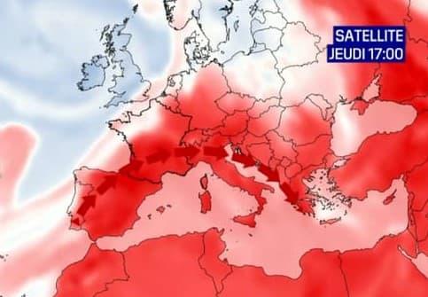 L'episodio di gran caldo iniziato in Francia è legato all'ondata di caldo nel Maghreb e nel sud Europa.