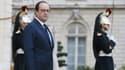 François Hollande sur le perron de l'Elysée, le 12 décembre 2014.