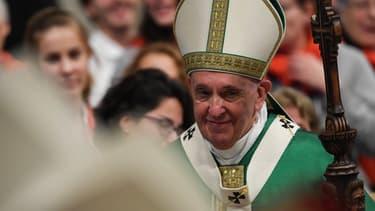 Le pape François lors de la messe de clôture du synode sur l'Amazonie, le 27 octobre 2019