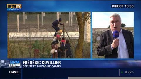 """Drame des migrants 2/2: """"La situation à Calais est extrêmement préoccupante"""", a réagi Frédéric Cuvillier"""