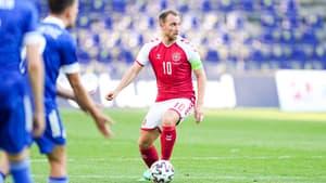 Christian Eriksen lors de Danemark-Bosnie