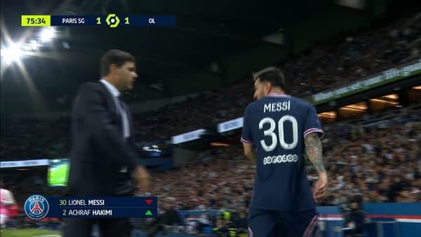 Lionel Messi à sa sortie pendant PSG-OL (3)