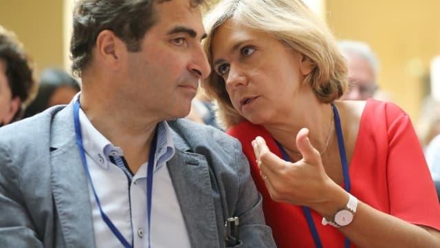 Christian Jacob et Valérie Pécresse en juin 2018 à Menton.