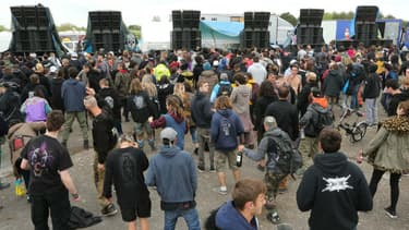 8.000 personnes rassemblées pour la 25ème édition du Teknival festival sur l'ancienne base militaire de l'Otan de Marigny, en avril 2018 (Photo d'illustration)- François NASCIMBENI / AFP