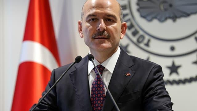Le ministre de l'intérieur turc, Süleyman Soylu, à Ankara, le 22 avril 2019