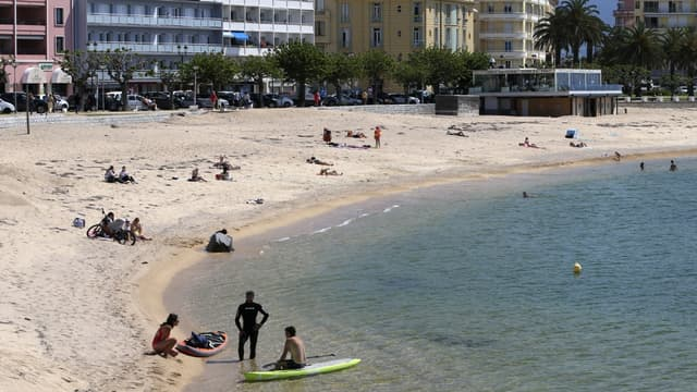 Image d'illustration d'une plage à Ajaccio le 21 mai 2020