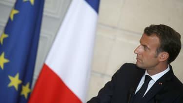 Le président de la République Emmanuel Macron, le 5 juin 2018 à l'Elysée à Paris.