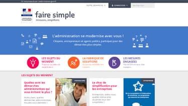 Thierry Mandon a annoncé sur BFMTV ce jeudi le lancement du site www.faire-simple.gouv.fr