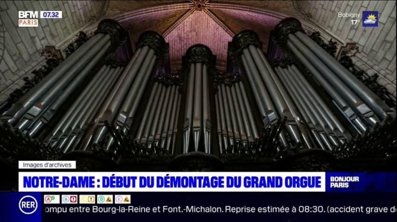 Notre-Dame: le démontage du grand orgue débute ce lundi