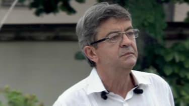 Mélenchon, en meeting à Toulouse, le 28 août 2018.