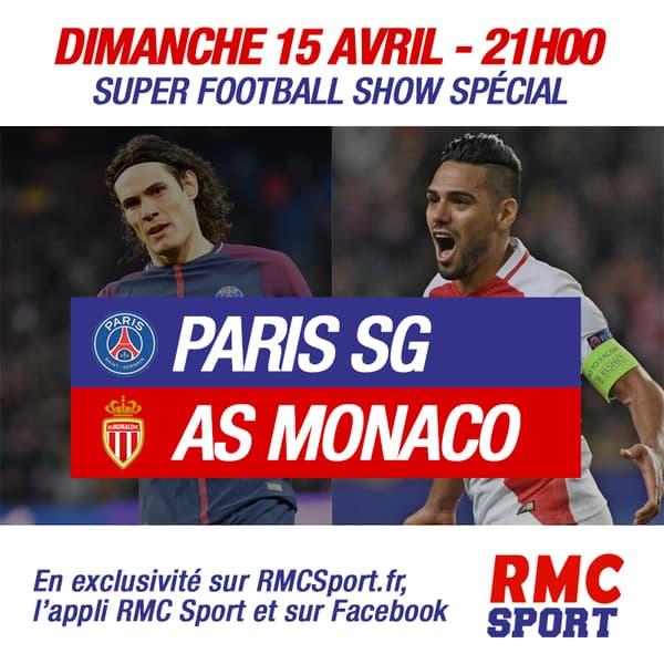 PSG-Monaco en direct sur RMC Sport