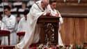 Le Pape lors de l'homélie de Noël
