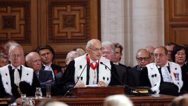 Didier Migaud, le Premier président de la Cour, lors de l'audience solennelle de rentrée
