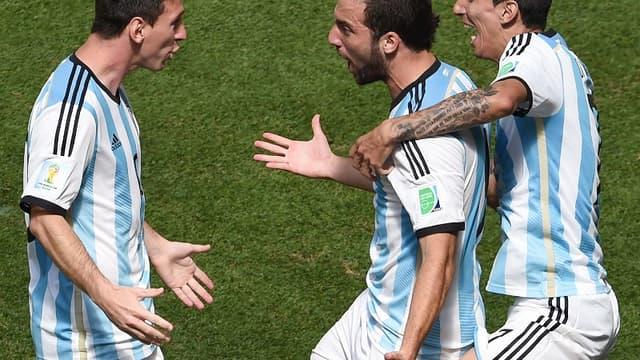 La joie de Messi, Higuain et Di Maria