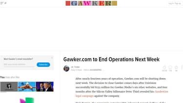 Gawker a perdu sa bataille judiciaire