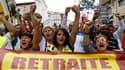 Défilé à Marseille lors de la journée de manifestation et de grèves contre la réforme des retraites, qui avait rassemblé, selon les sources, dans les rues de France entre 1,1 et 2,7 millions de personnes le 7 septembre. Les syndicats, qui disent sentir la