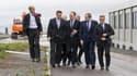 David Cameron en visite sur le site où doivent être construits deux EPR.