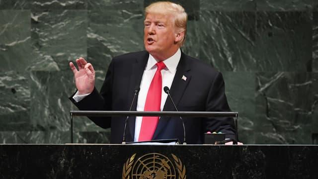 Donald Trump s'exprime à la tribune de l'Assemblée générale de l'ONU, le 25 septembre 2018.