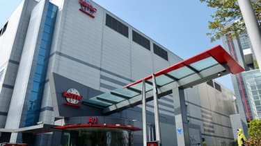 Le plus grand producteur de semi-conducteurs, TSMC, à Hsinchu, une ville de province de Taïwan.