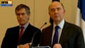 L'ancien ministre du Budget, Jérôme Cahuzac (G), et le ministre de l'Economie Pierre Moscovici
