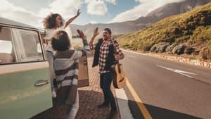 Amis sur la route des vacances