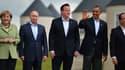 Angela Merkel, Vladimir Poutine, David Cameron, Barack Obama et François Hollande lors du G8, en juin 2013.