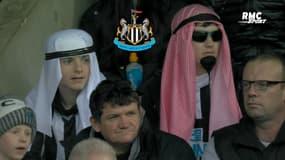 Newcastle : Banderole et keffieh sur la tête, l'accueil irrévérencieux des fans des Magpies au propriétaire saoudien