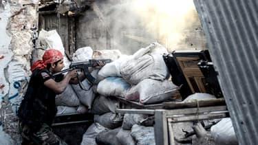Un rebelle syrien