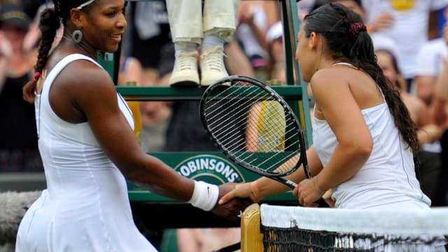 Serena Williams et Marion Bartoli