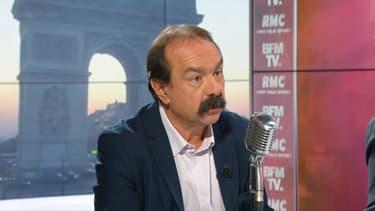 Philippe Martinez était l'invité de BFMTV et RMC ce vendredi.