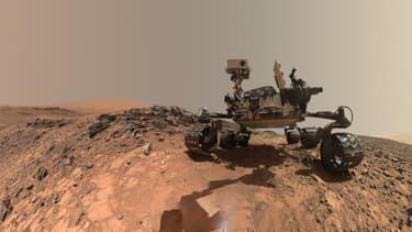Le rover Curiosity sur Mars, photo transmise par la Nasa le 7 juin 2018