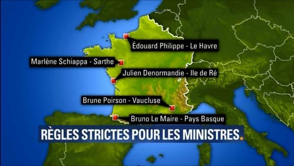 Les destinations des ministres en vacances
