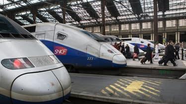 Des trains en gare SNCF (Photo d'illustration).