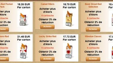 Les ventes de cigarettes en ligne représenteraient un manque à gagner de 400 millions d'euros pour l'Etat.