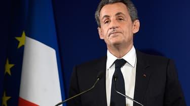 Nicolas Sarkozy lors de son discours de défaite, le 20 novembre.