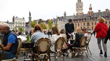Une terrasse à Lille.