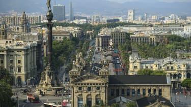 La ville de Barcelone, en Espagne